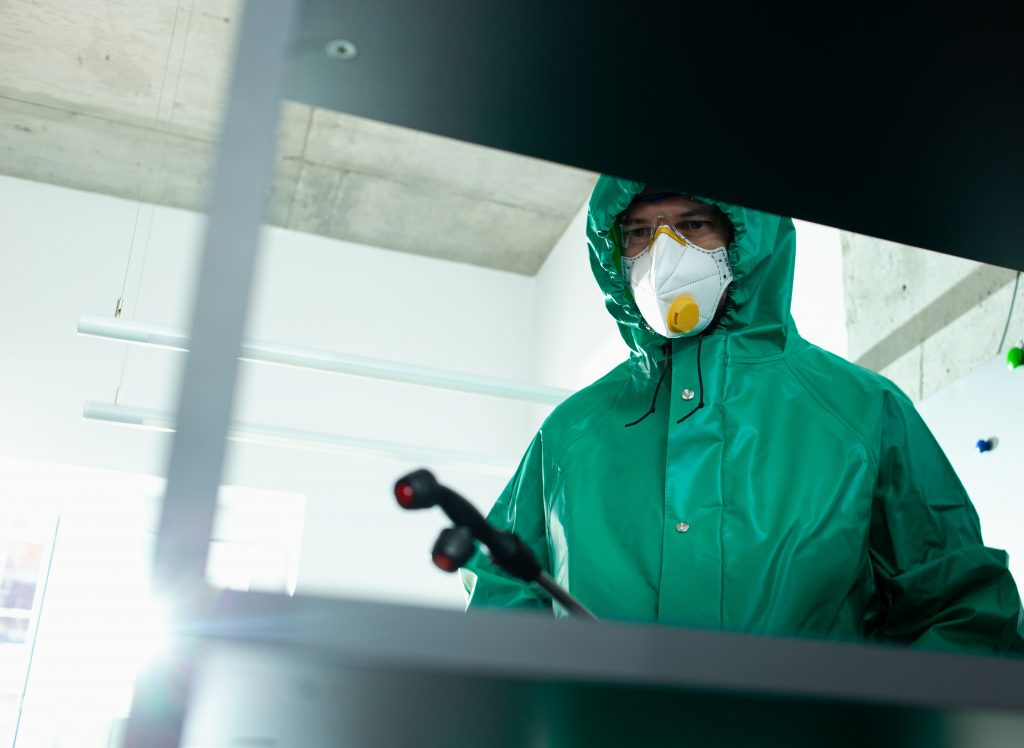 Disinfecting fogging of frequently used surfaces in the office